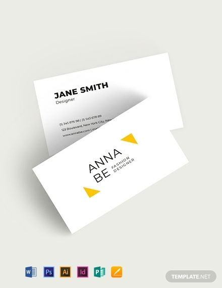 Fashion Designer Business Card Template Word Doc Psd Indesign Apple Mac Pages Illustrator Publisher Business Card Template Word Business Card Templates Download Business Card Template