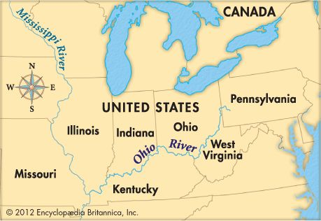 The Ohio River Is Formed By The Confluence Of The Allegheny And - Ohio in the us map