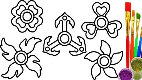Marvelous Picture Of Fidget Spinner Coloring Page Free Coloring