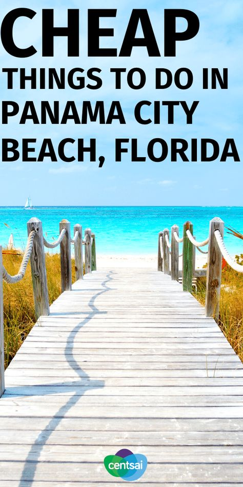 Want to enjoy Florida without making your wallet sweat? Check out our cheap vacation ideas in Panama City Beach, Florida. Panama City Beach Florida, Florida Vacation, Florida Travel, Panama City Panama, Florida Beaches, Panhandle Florida, Beach Fun, Beach Trip, Beach Vacations