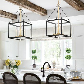 Weston Lantern Pendant In 2020 Black Pendant Light Kitchen Gold Pendant Light Kitchen Gold Pendant Lighting