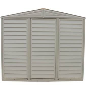 Sidemate 4 Ft W X 8 Ft D Plastic Lean To Storage Shed Vinyl Storage Sheds Building A Wood Shed Diy Shed Plans