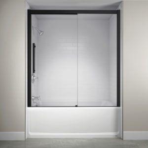 Jacuzzi Concealed Roller Shower Door With Images Bathtub