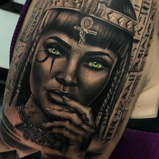 Cleopatra Que Les Parece What Do You Think Materiales Griptattoosupplies Egyptian Tattoo Egypt Tattoo Egyptian Tattoo Sleeve