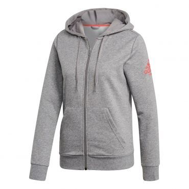adidas Club Hoody trainingsjack dames core heather shock red ...