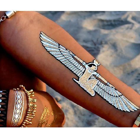 tatouages ephemeres argentes