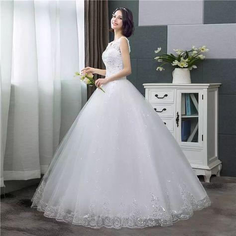 Print Ball Gown Wedding Dress 2019 New