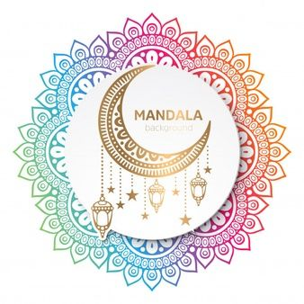 Lade Ethnische Nahtlose Blumchenmuster Mit Mandalas Kostenlos Herunter In 2020 Vector Free Backgrounds Free Mandala Vector