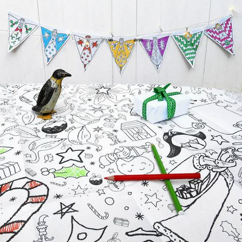 Christmas Coloring Tablecloth Coloring Pages Christmas