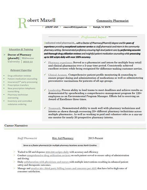 Retail Pharmacist Resume Sample Http Www Resumecareer Info Retail Pharmacist Resume Sample 7 Good Resume Examples Resume Effective Resume
