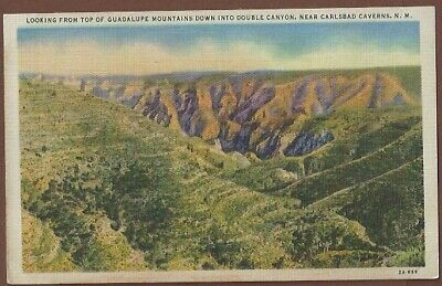 Double Canyon Carlsbad Nm Vintage Postcard New Mexico Linen Ebay Carlsbad Caverns New Mexico Carlsbad Caverns National Park Carlsbad
