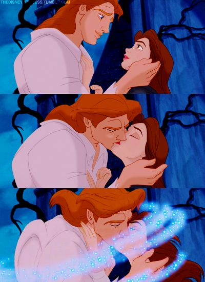 DISNEY PRINCESS CHALLENGE #5: Favorite Kiss- Belle and the Prince, Beauty and the Beast...her kisses really were healing!