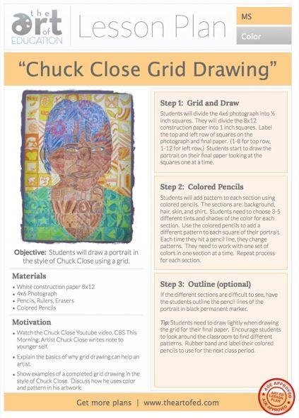 AOE - Chuck Close Portrait: This has three different ways to complete a Chuck Close Portrait