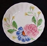 Southern Potteries Blue Ridge 9 plate Red Barn dinnerware pattern Skyline shape 1950s