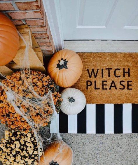 Witch Please Door Mat In 2019 Modern Halloween Decor