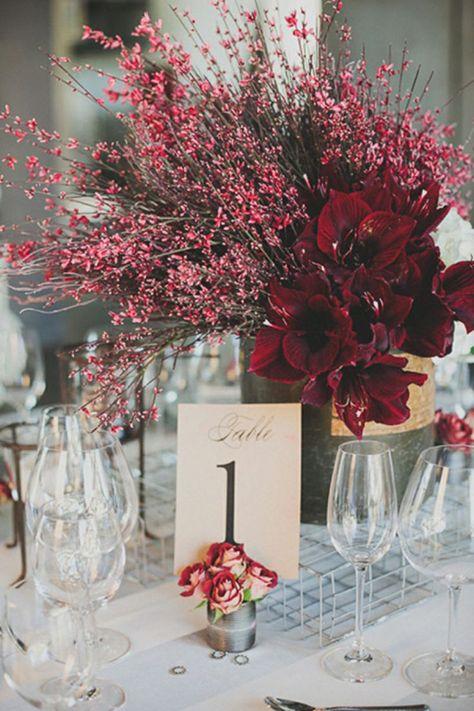 Dramatic, deep red amaryllises | Brides.com