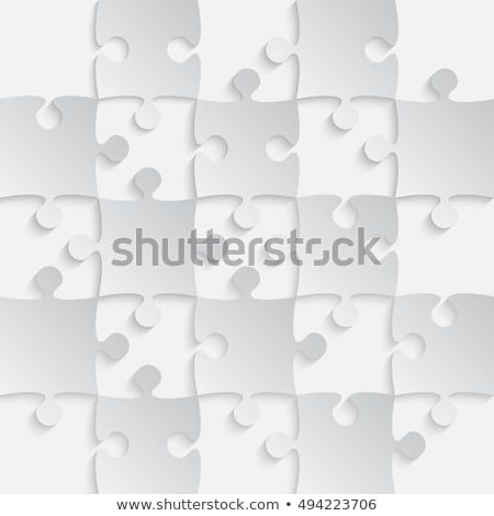 Square White Grey 25 Pieces Background Puzzle Jigsaw Banner