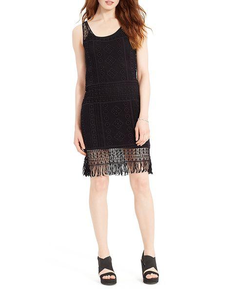 1f5ee5874d86 Lauren Ralph Lauren Fringed Crochet Lace Dress