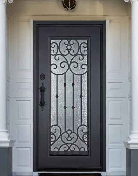 D51063 Single Iron Door Amara Wrought Iron Doors Front