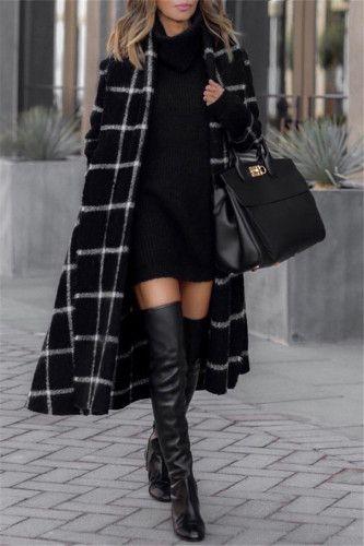 Plaid Fashion, Moda Fashion, Winter Fashion Outfits, Fall Winter Outfits, Fashion Trends, Fashion Fall, Hi Fashion, Fashion Today, Fashion 2018