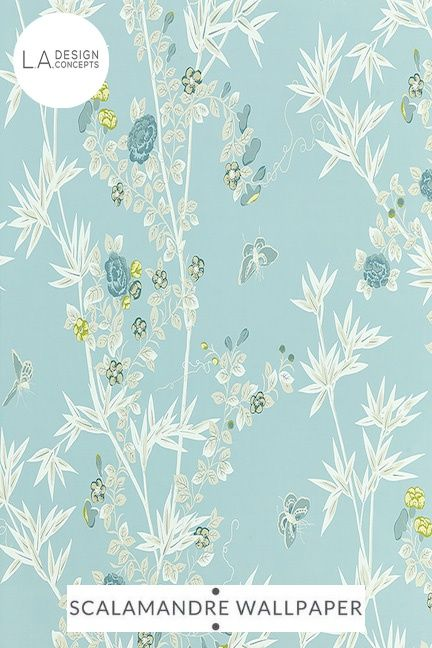 Wp88375 003 Jardin De Chine Ciel Scalamandre Wallpaper With