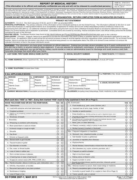 22 best US DA and DD Forms images on Pinterest - physical assessment form