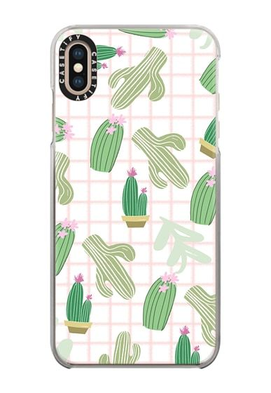 super popular f3163 3b7b8 Impact iPhone XS Max Case - Pastel pink florest green geometrical ...