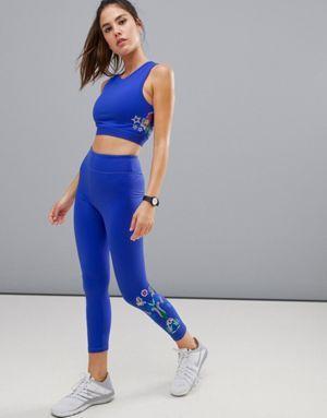 Asos 4505 Embroidered Legging Embroidered Leggings Sportswear Leggings Gym Wear For Women