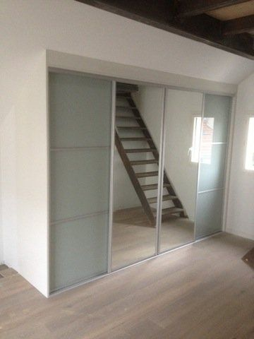 7 best Placard images on Pinterest Sliding doors, Cupboard doors - prix porte coulissante sur mesure