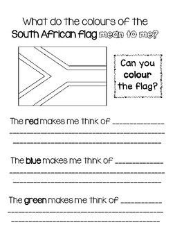 Unlocking Creative Thinking This Easy To Use Resource Asks Students To Reflect On What The Colors Of The South Africa South African Flag South African African