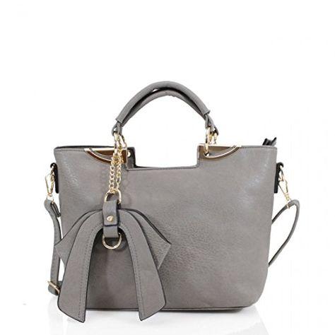 d1ff51aba4e9 Ladies Bow Detail Tote Bag Women Gold Tone Metal Hardware Grab Shoulder Bags  (Black)  Amazon.co.uk  Shoes   Bags