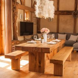 Bon Have It Straight Chunky Oak Dining Table