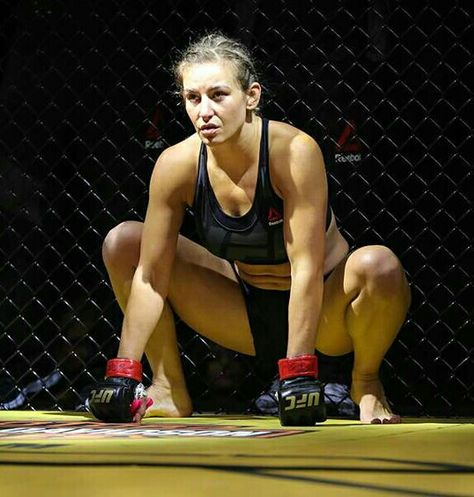 Miesha Tate UFC Champ looking Fine and Fierce in staredown at UFC 200.