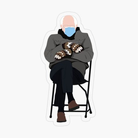 Bernie Sanders Inauguration Meme Transparent Sticker By Valentinahramov In 2021 Meme Stickers Transparent Stickers Vinyl Decal Stickers