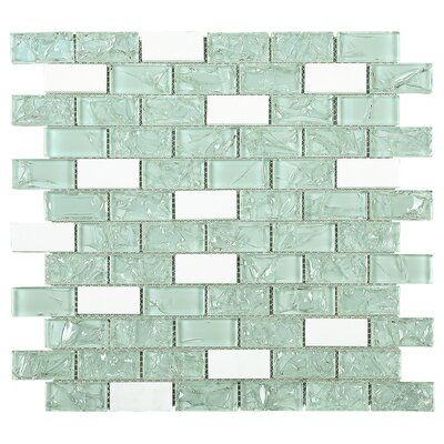 Crushed 1 X 2 Glass And Stone Mosaic Tile Color Blue In 2020 Stone Mosaic Tile Mosaic Tiles Color Tile