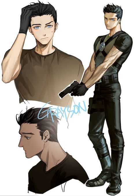 I actually love his new look but I hate how they made him stop being nightwing. He loved being nightwing Nightwing, Manga Boy, Manga Anime, Dc Comics, Chibi, Richard Grayson, Hot Anime Boy, Anime Boys, Anime Superhero