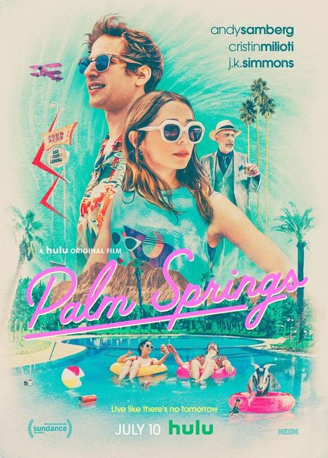 Palm Springs Movie Poster Glossy High Quality Print Photo Wall Art Andy Samberg Cristin Milioti Size