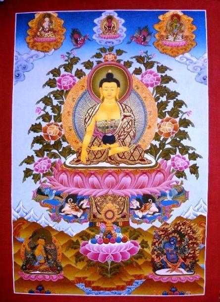 Thangka- Figures : Buddha,Real Gold Buddha Thangka,Hand
