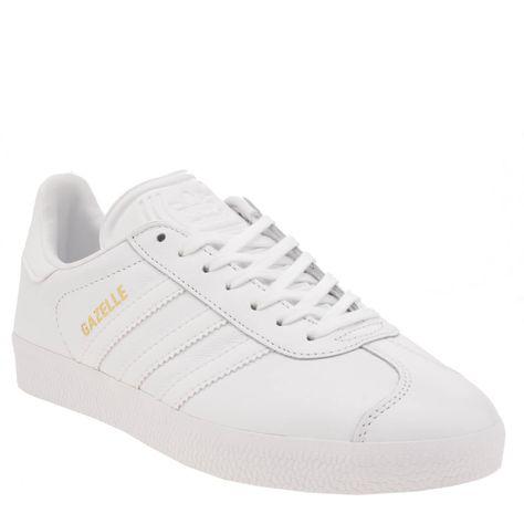 womens adidas white gazelle leather