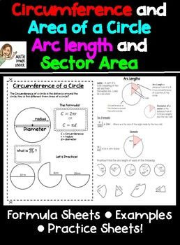 Circle Circumference And Area Arc Length And Area Of Sectors