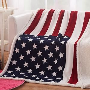 American Flag Blanket Fleece Throw Bedding Couch Cover Bed United States Print