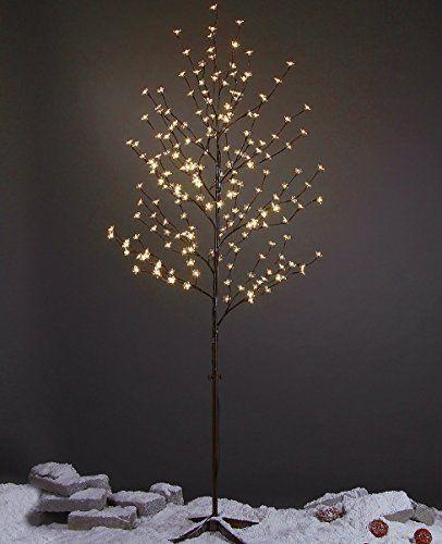 Lightshare 6 Feet Cherry Blossom Lighted Tree 208 Led Lights Warm White For Christmas Tree Part Cherry Blossom Light Tree Cherry Blossom Tree Blossom Trees