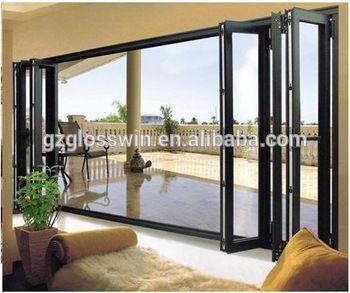 Aluminium Accordion Screen Door For Balcony Position Buy Accordion Screen Door Aluminium Glass Doors Patio Exterior Doors For Sale Folding Glass Patio Doors