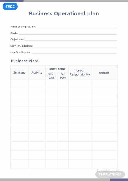 Free Business Operational Plan How To Plan Templates Change