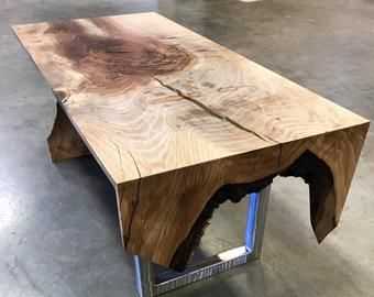 Live Edge Walnut Coffee Table Etsy Walnut Coffee Table Wood Table Woodworking Outdoor Furniture