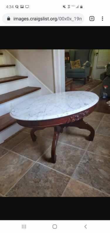 Victorian Style Coffee Table Solid Mahogony Italian Marble Top In 2020 Coffee Table Marble Top End Tables Italian Marble