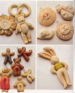 Salt dough is easy and cheap to make. The possiblities are endless from holiday ornaments to home decor, custom buttons, name plaques, jewelry...