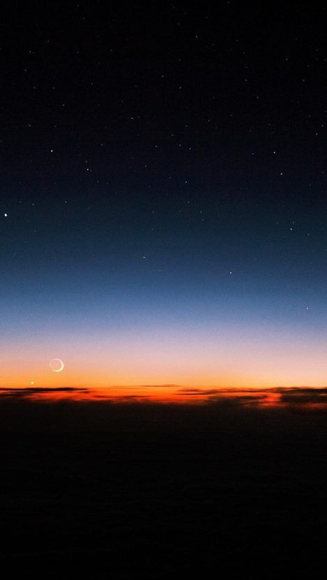 Night Sky Sunset Stars Iphone Wallpaper Free Getintopik In 2020