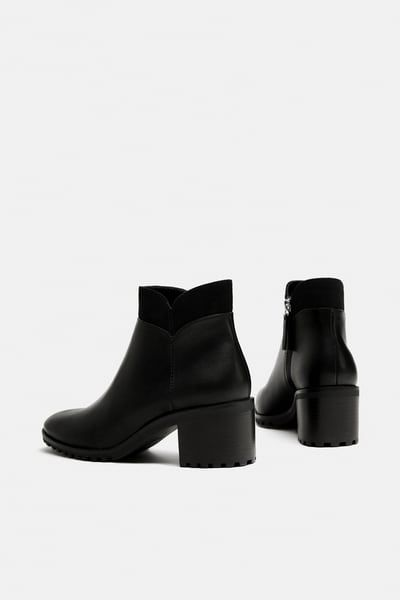 zara ankle boot with track heel