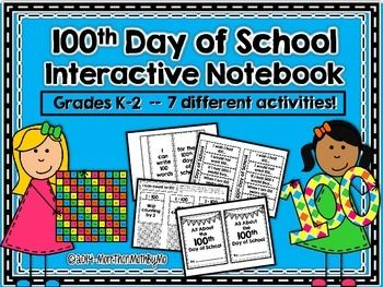 100th Day of School Interactive Notebook
